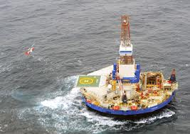 Oil Rig run aground in Alaska