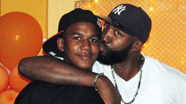 Trayvon - with dad Tracey