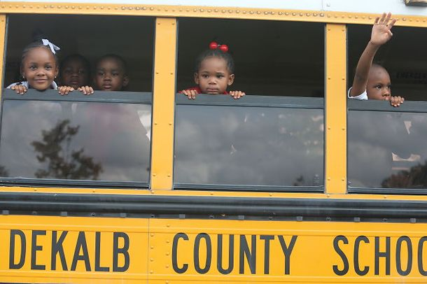 Students on the bus DeKalb County School shooting