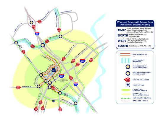 Braves traffic plans for new stadium