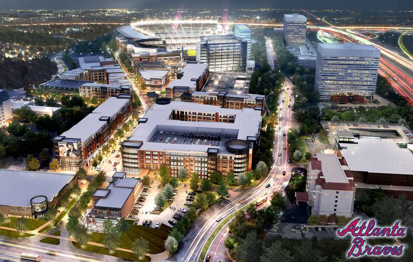 New Braves Stadium Cobb County - artist rendering / AJC