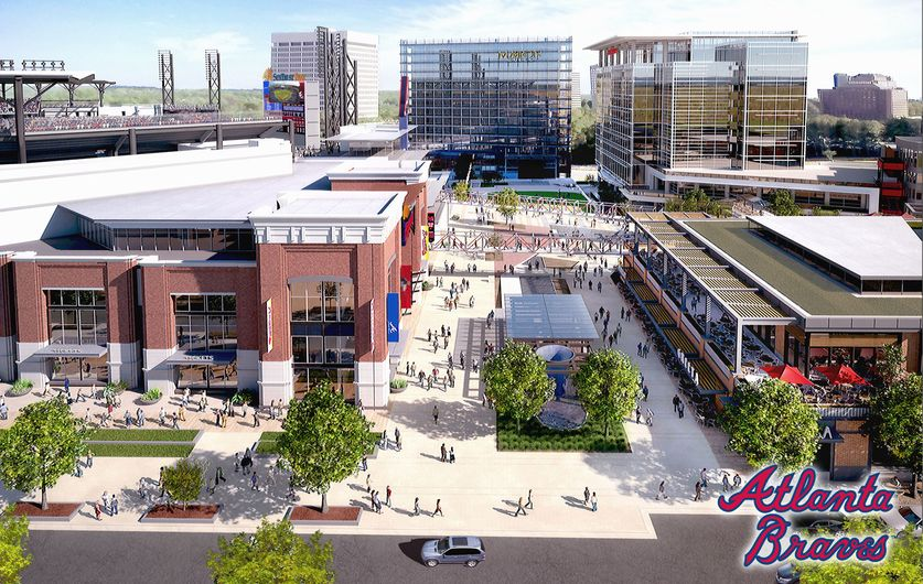The concourse of the New Braves Stadium - artist rendering / AJC