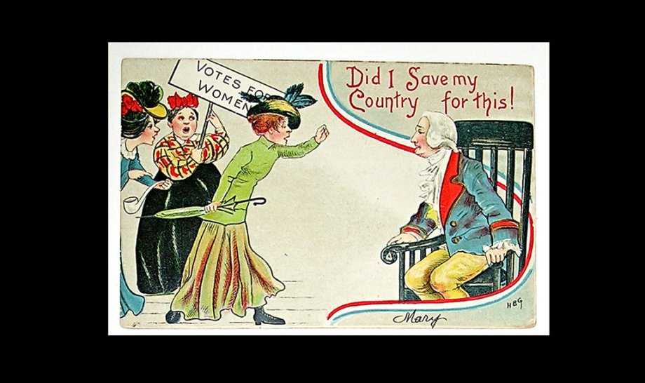 Anti-Suffrage cartoon - nation first