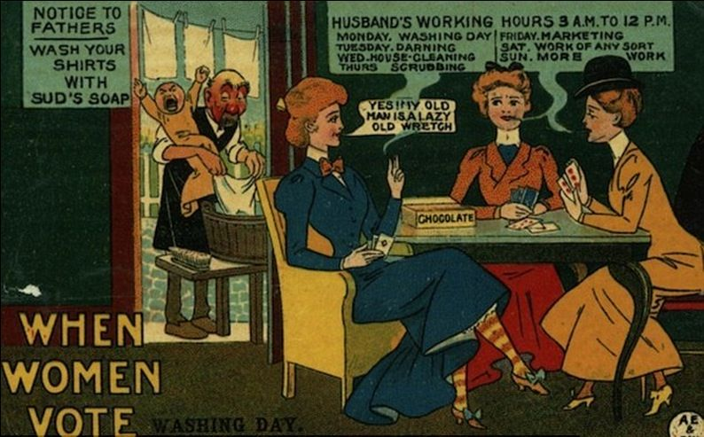 Suffergette propaganda - when women work ERA