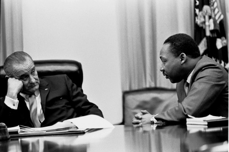LBJ talks with MLK about Affirmative Action 1965