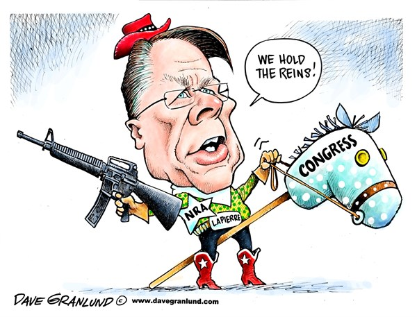 NRA controls Congress cartoon