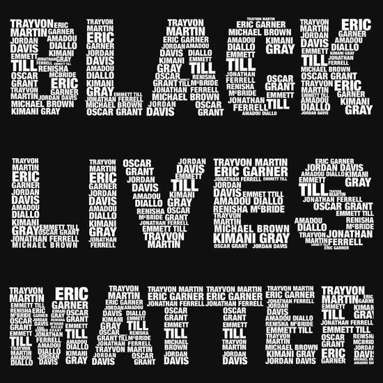 Black LIves Matter with names
