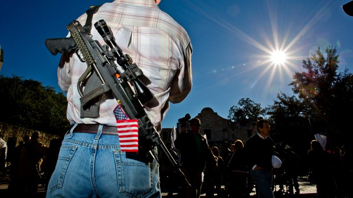man with assault rifle - guns nra