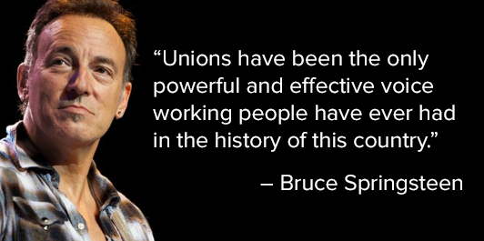 the boss on unions